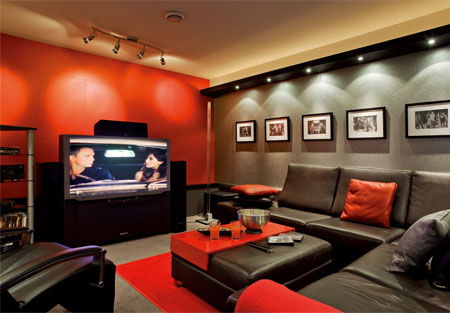 salle de cinema a la maison awesome pour plusieurs. Black Bedroom Furniture Sets. Home Design Ideas