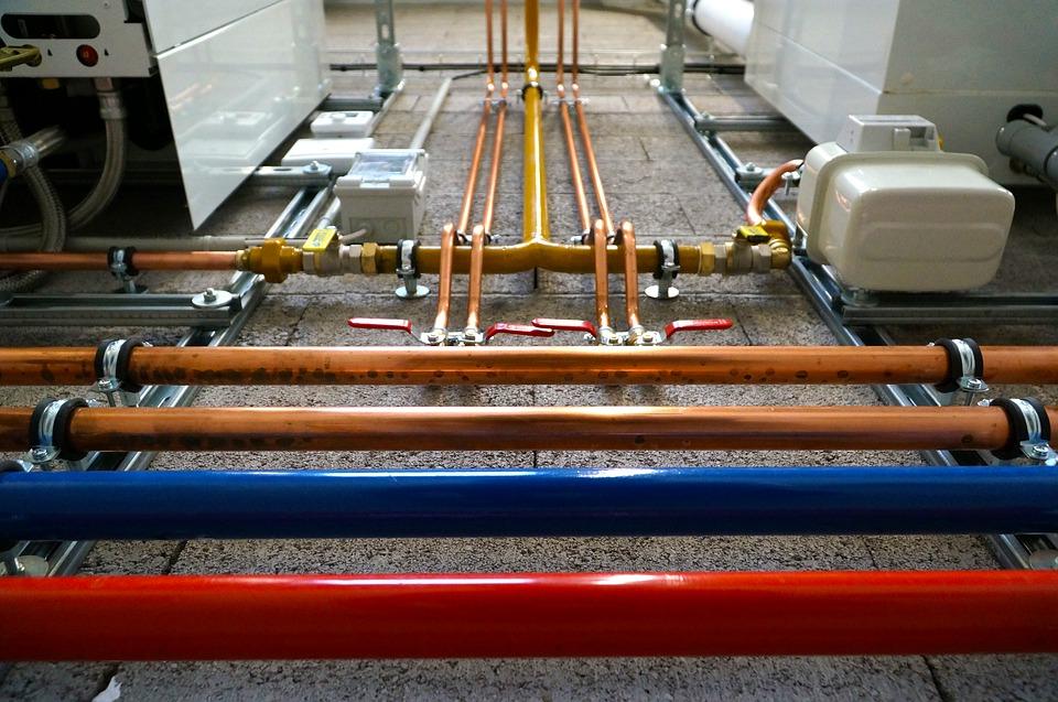 Canalisations de gaz pour le raccordement d'une chaudière condensation
